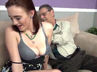 old & young amateur creampie